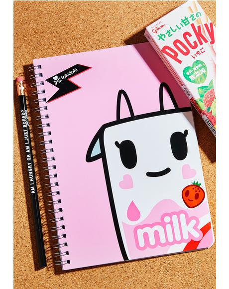 Strawberry Milk Notebook