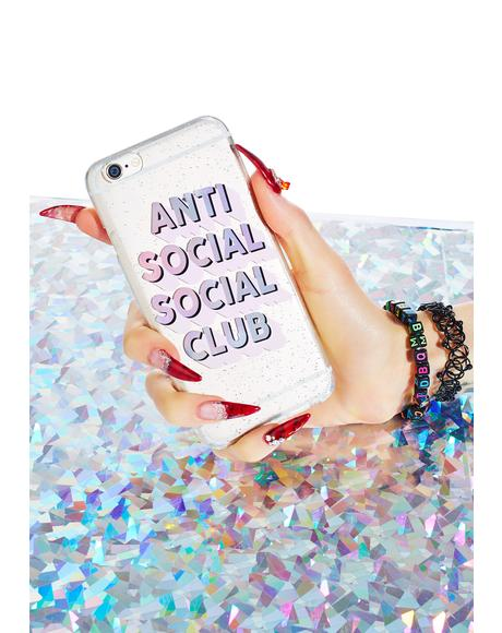 Anti Social Club iPhone Case