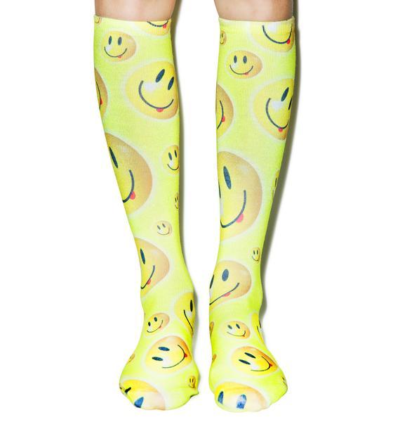 Be Happy Knee High Socks