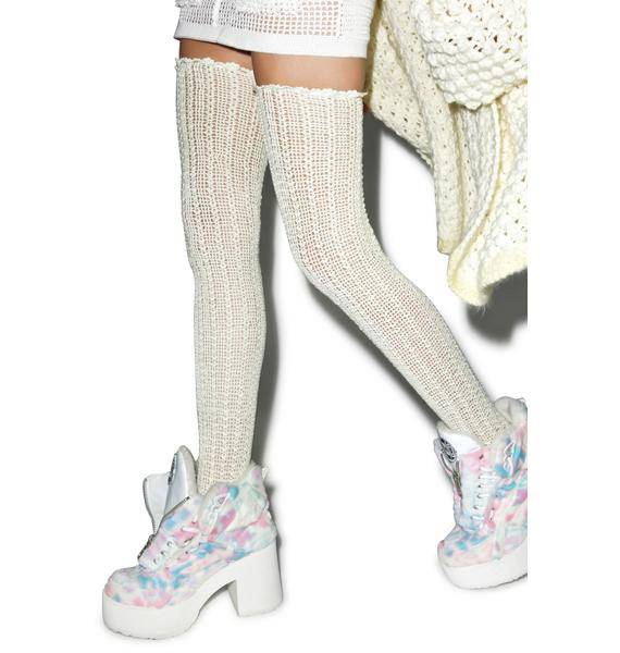 Maria ke Fisherman Crochet Thigh Highs