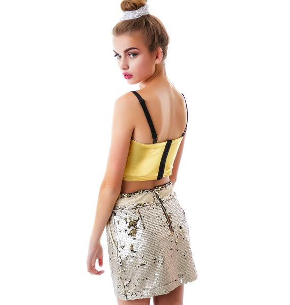 Double Love Sporty Sequined Skirt