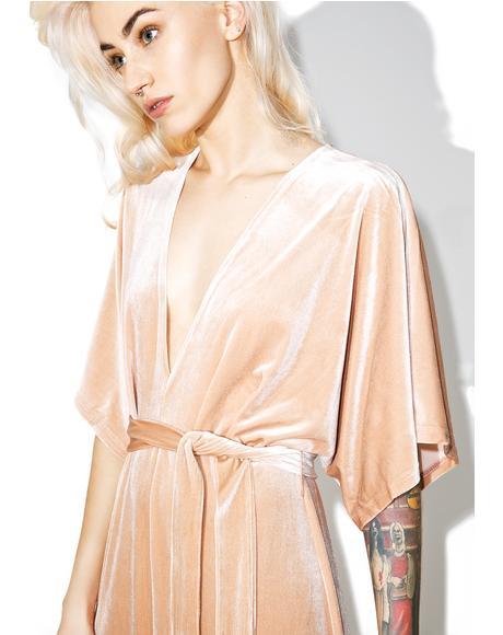 Sweet May Velvet Maxi Dress