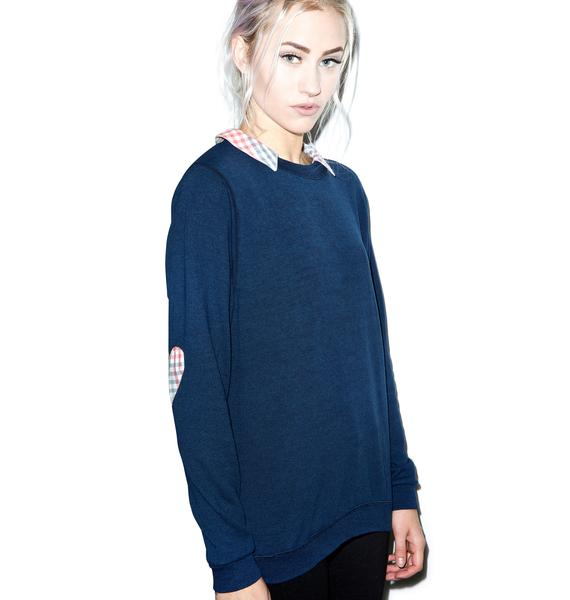 JET by John Eshaya Elbow Heart Sweatshirt