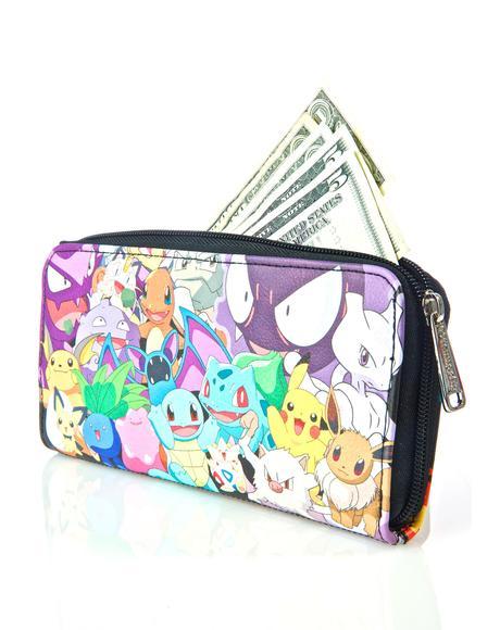 X Pokemon Character Wallet