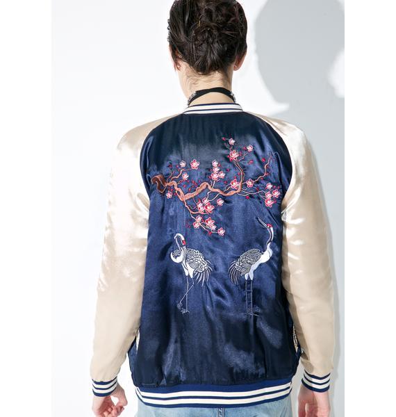 Lucky Crane Bomber Jacket