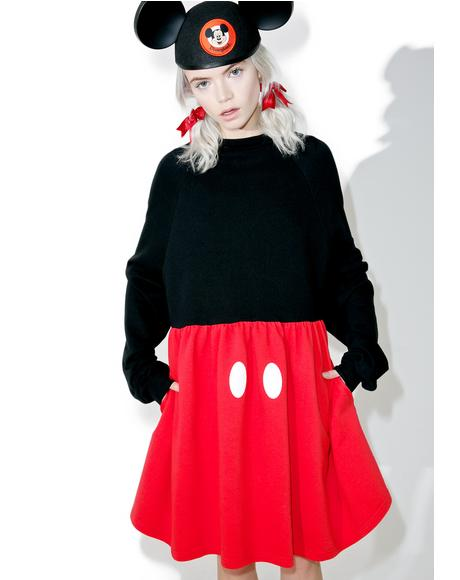 X Disney Mickey Mouse Sweater Dress