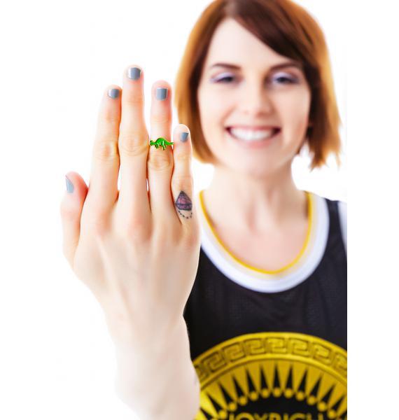 Joyrich x Giza Dinosaur Pachycephalosaur Micro Fingertip Ring