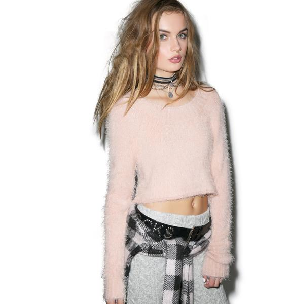 For Love & Lemons Ski Bunny Crop Sweater