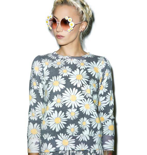 Wildfox Couture Daisy Train Couch Princess Sweater