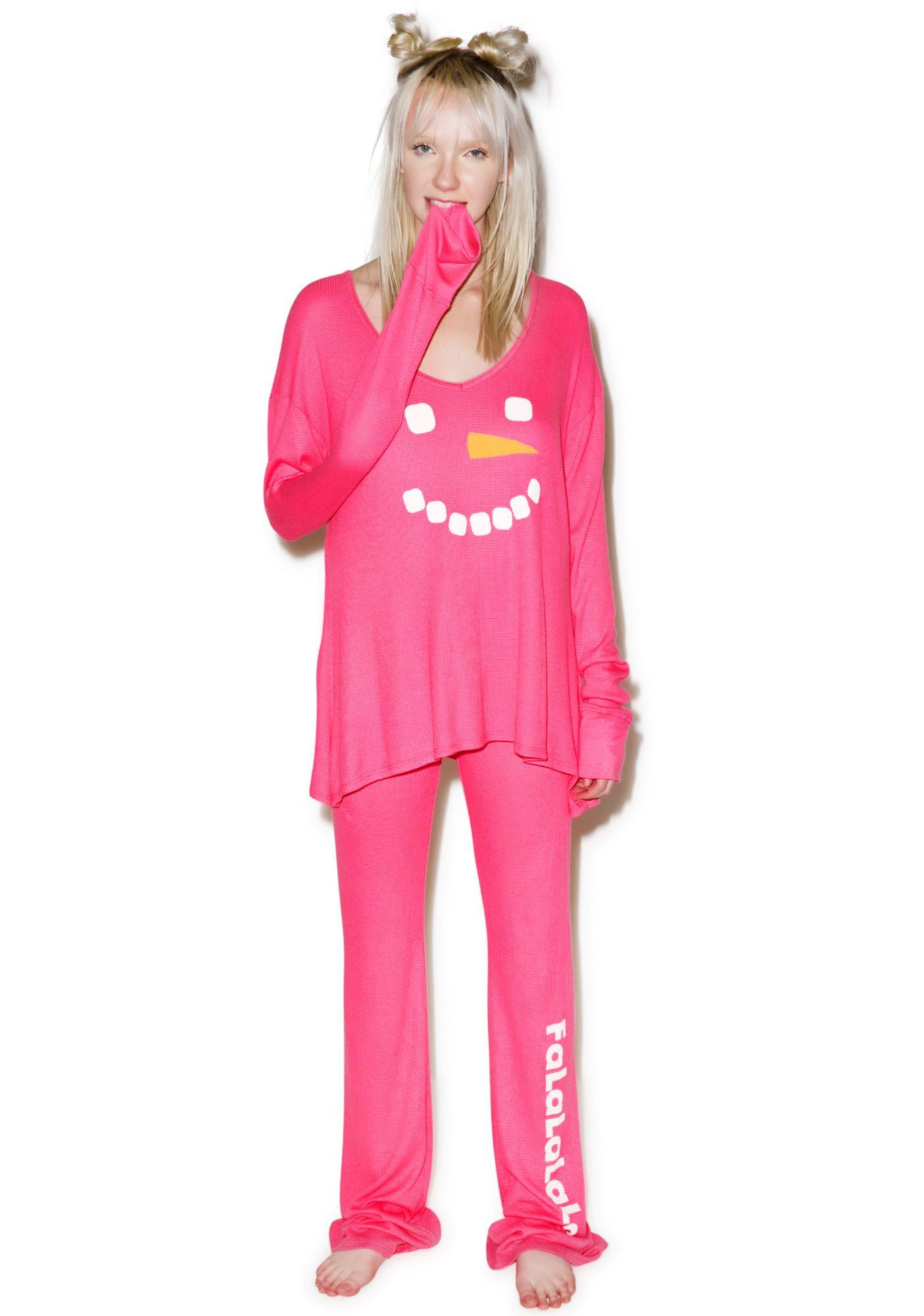 Wildfox Couture Frosty Face Polar Pajama Set