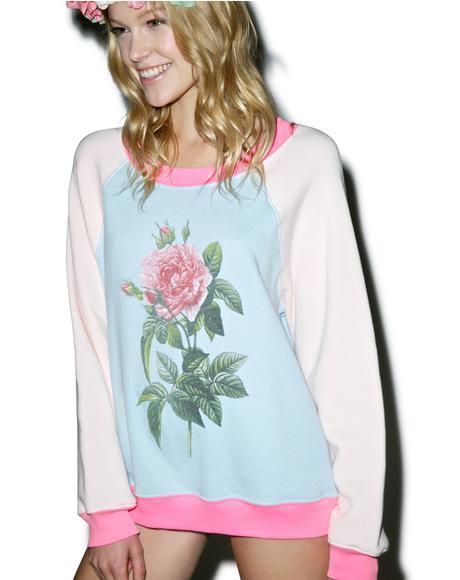 Pretty Pink Floral Kim's Sweater