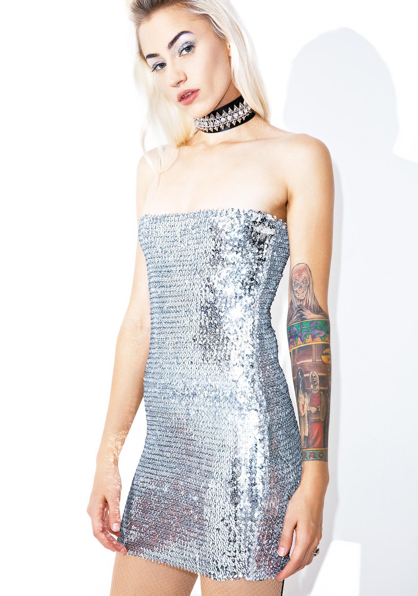 Silver Lining Bodycon Dress