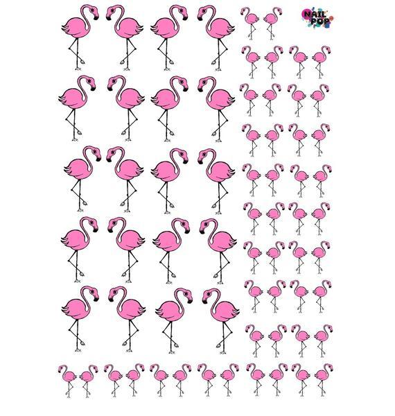 Nail Pop Flamingo Water Slide Decals