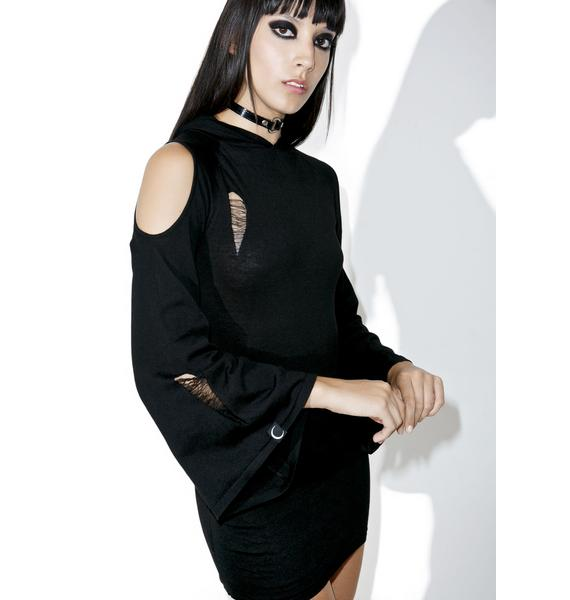Killstar Dee Spare Knit Dress
