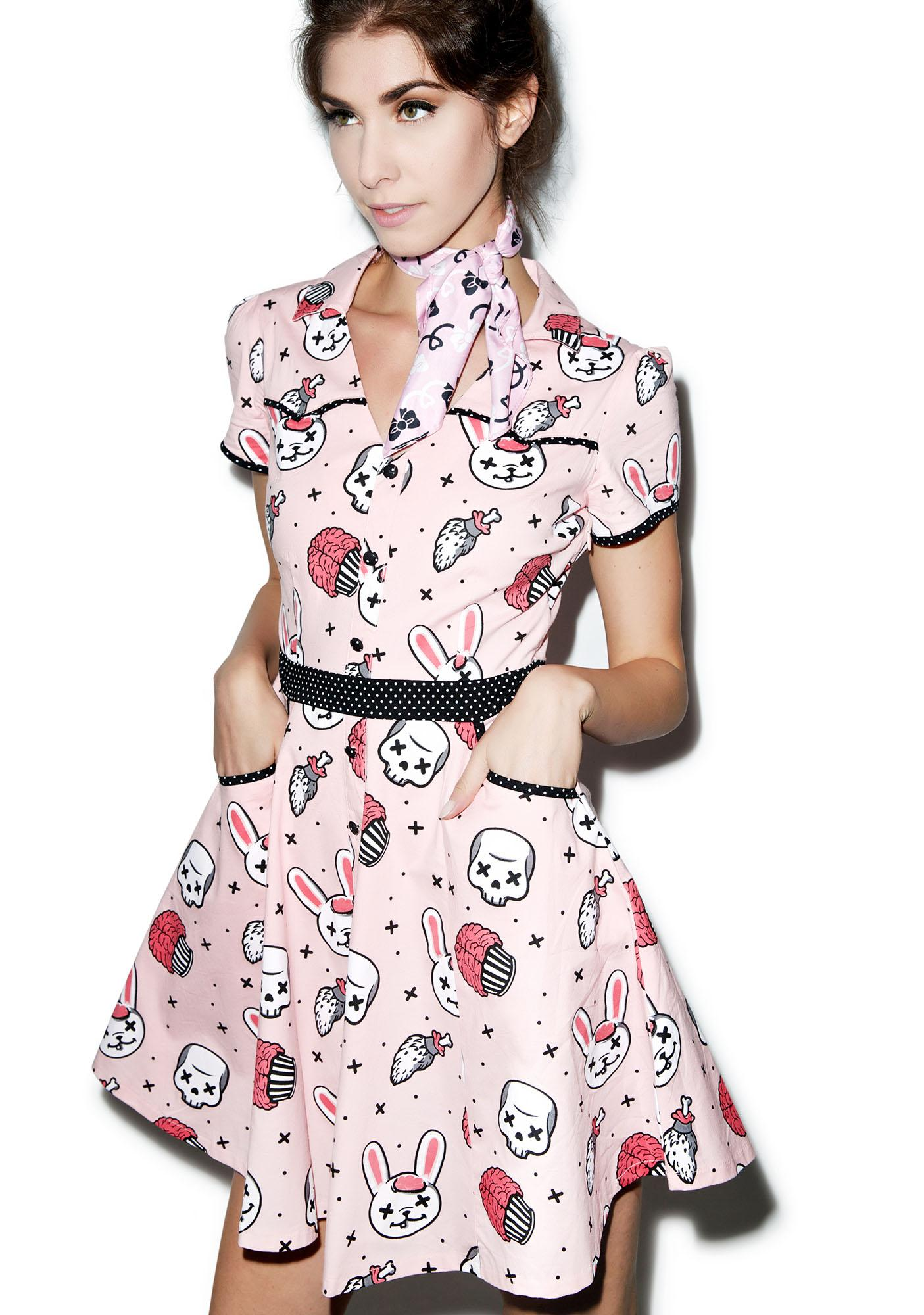 Sourpuss Clothing Hellbilly Zombie Bunnies Dress