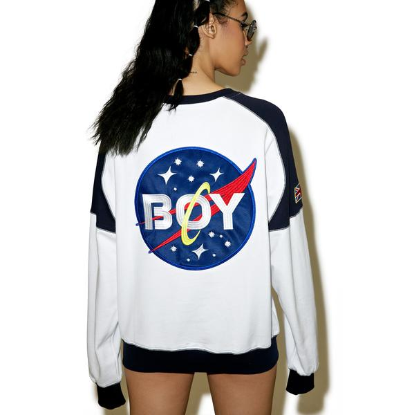 BOY London Boy Space Badge Sweatshirt