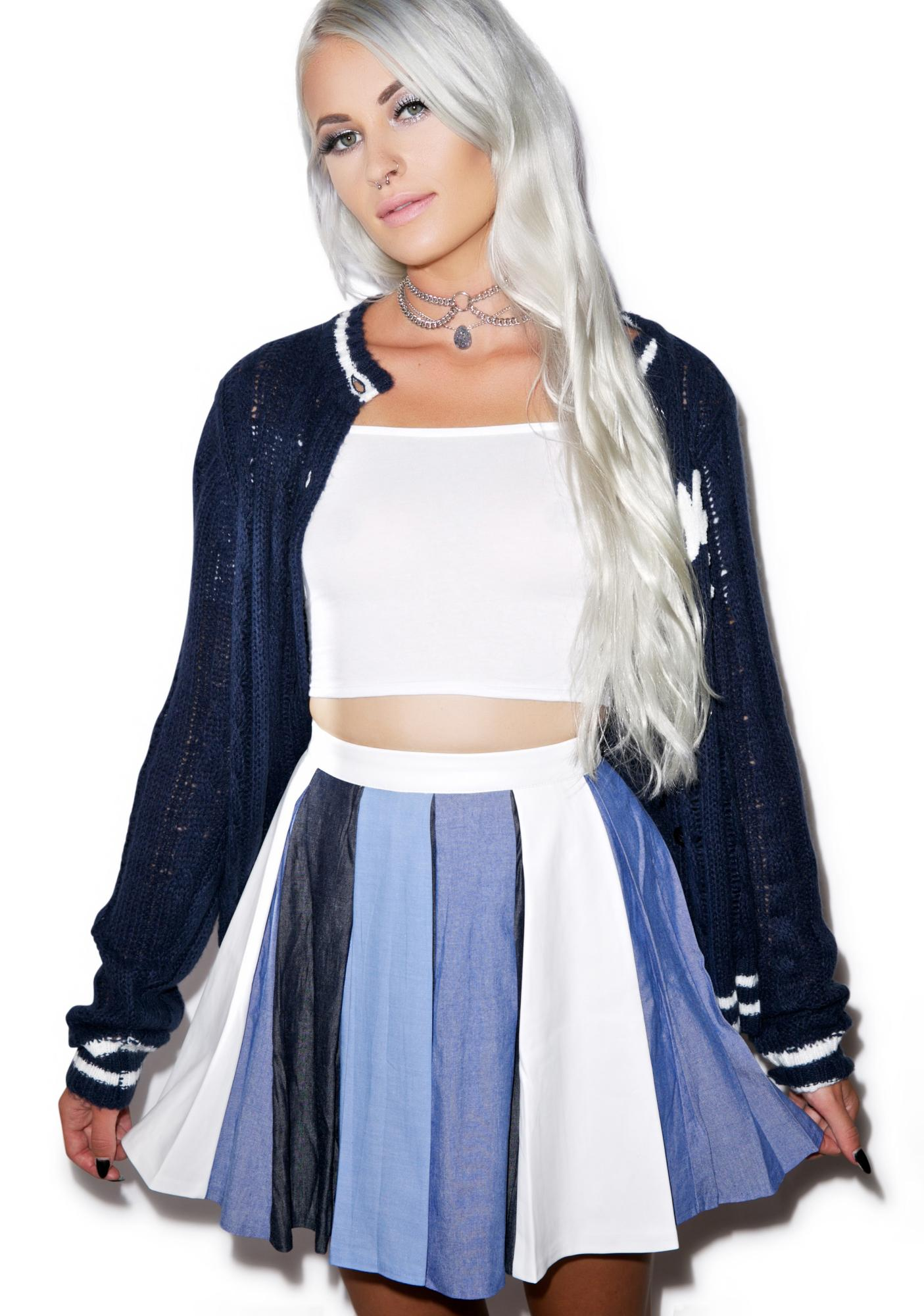 You Blue Me Away Skirt
