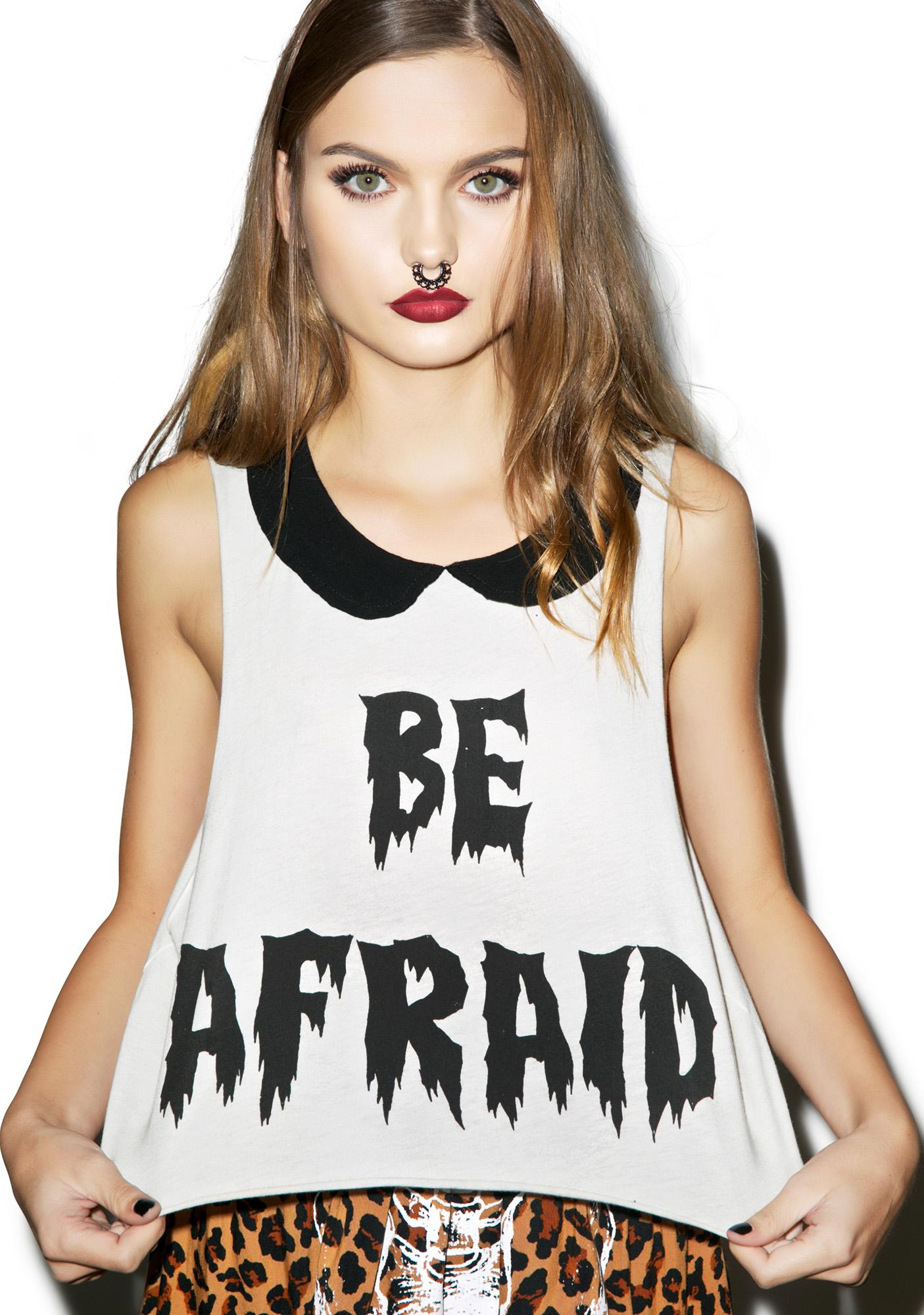 Iron Fist Be Afraid Crop Tank