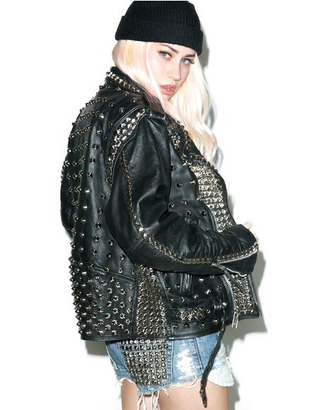 Defenders Of The Faith Leather Jacket