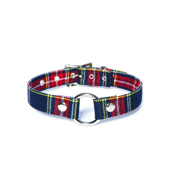 Club Exx Plaid Ass Choker