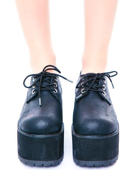 Suede Nosebleed Heels