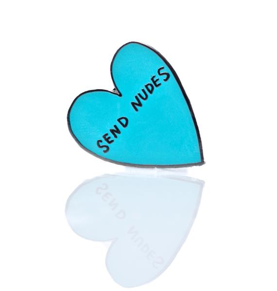 Send Nudes Enamel Pin