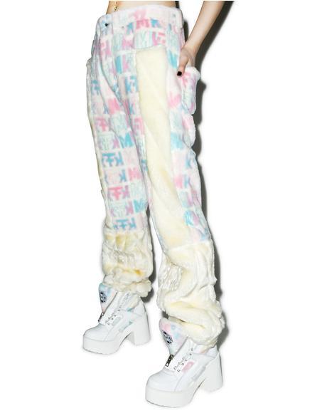 Pastel Fuzziness Logo Pants