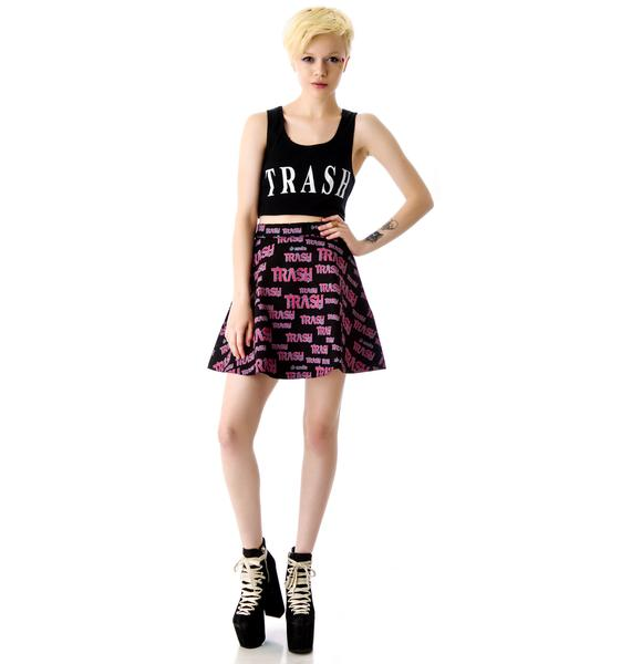 Lip Service Fashion Victim Trash Circle Skirt