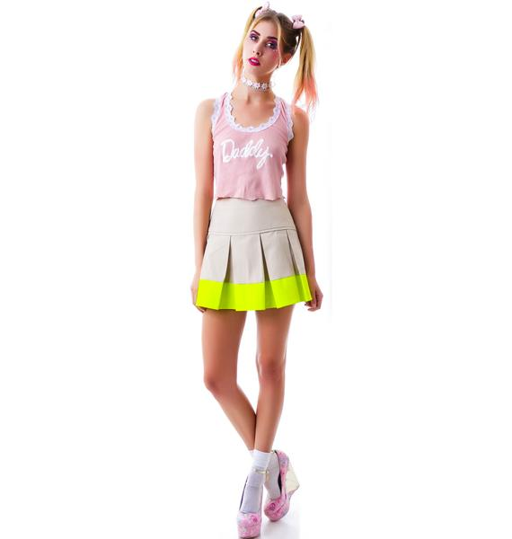 New Kid on the Color Block Pleated Skirt