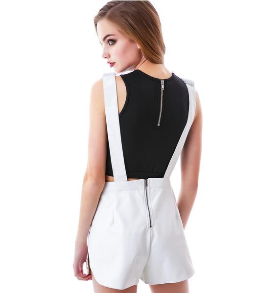 Olivia Veggie Leather Overall Shorts