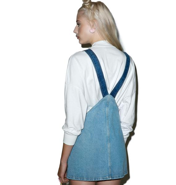 Local Heroes Denim Heart Pinafore Dress