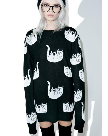 Fallin' For Nermal Knit Sweater
