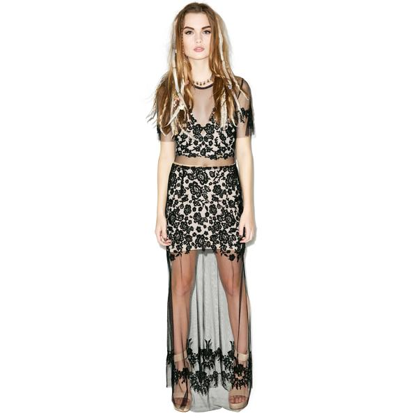 For Love & Lemons Luau Maxi Skirt