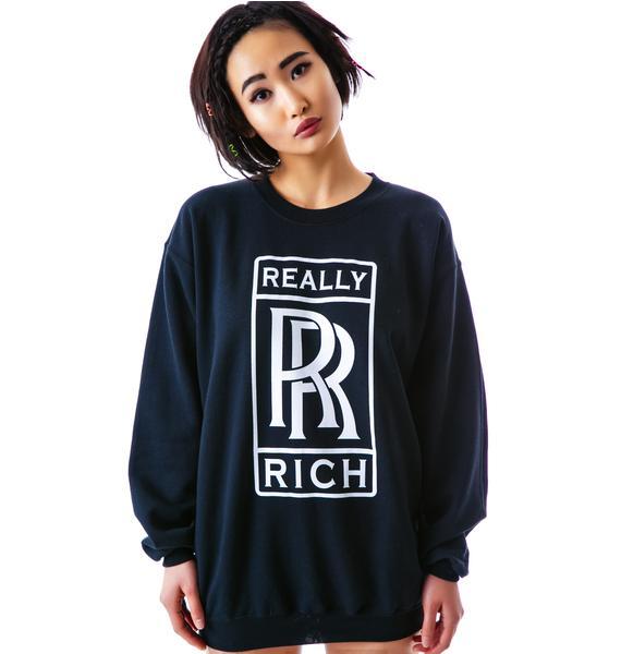 Petals and Peacocks Really Rich Sweatshirt