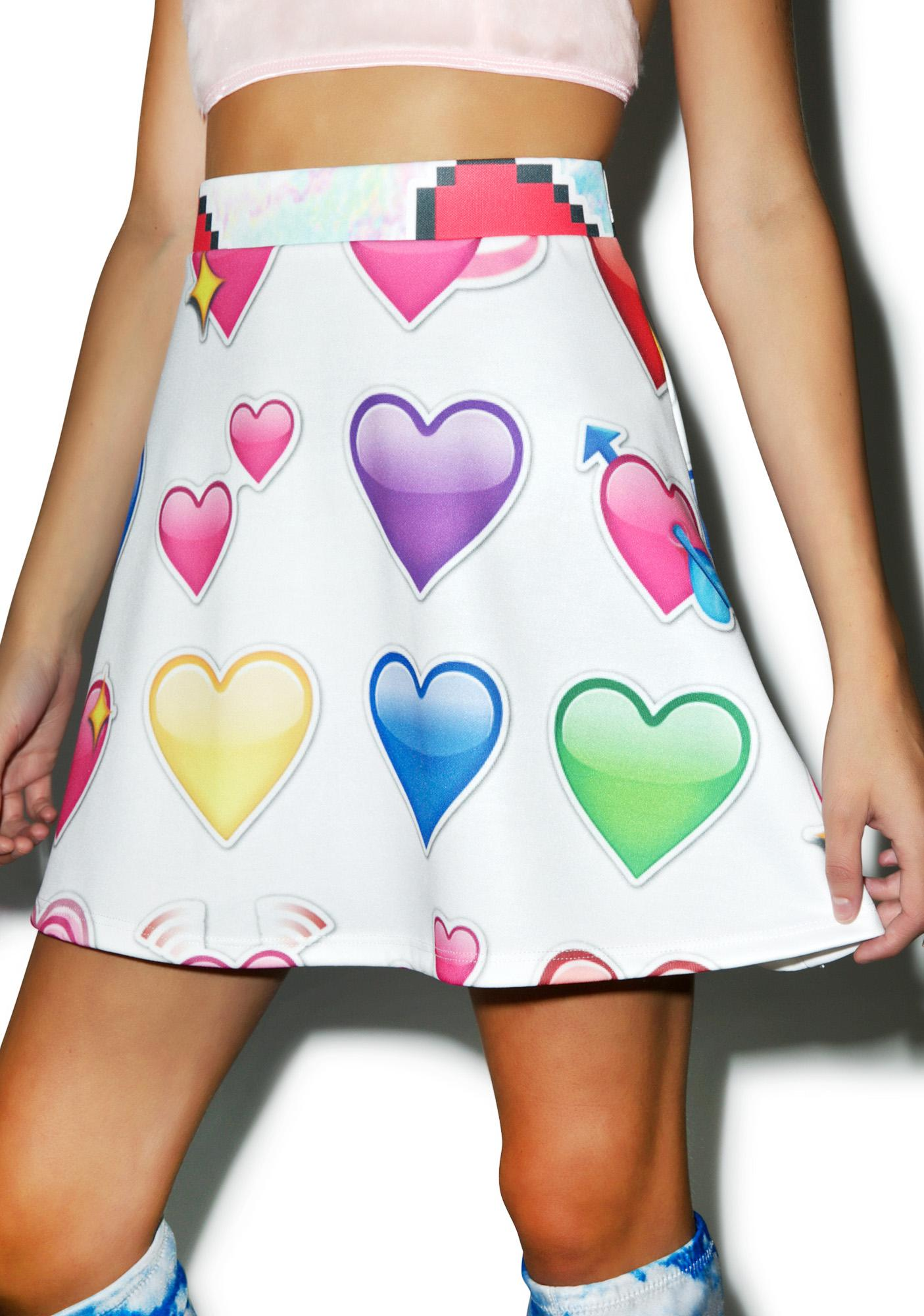 Emoji Heartz Skirt