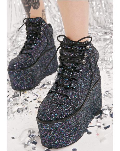 Qozmo Hi Glitter Sneakers