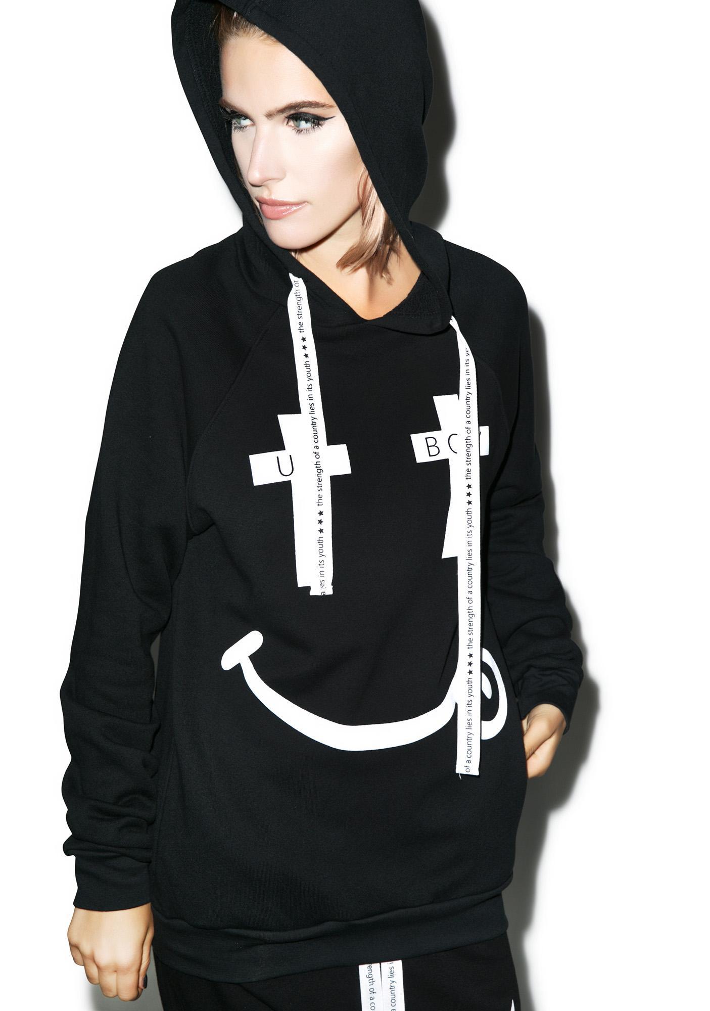 BOY London United Boy Black Acid Hooded Sweatshirt
