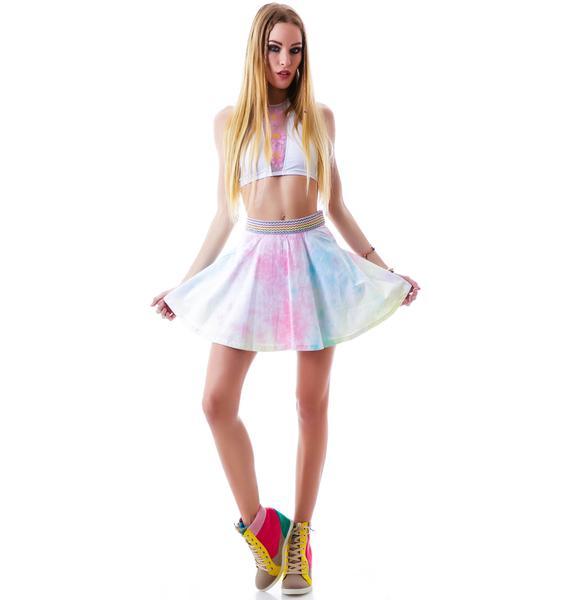 Rainbow Sherbet Skater Skirt