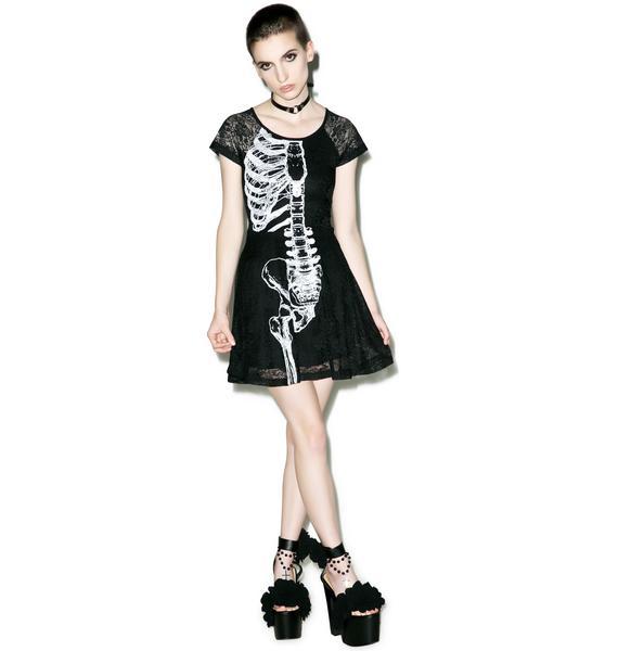 Iron Fist Wishbone Lace Dress