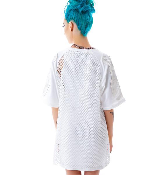 Bone Me Mesh Jersey Dress