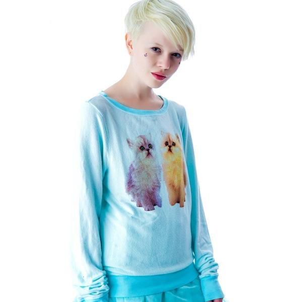 Wildfox Couture Magical Cats Baggy Beach Jumper