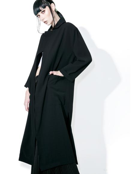 Rei Draped Trench Coat