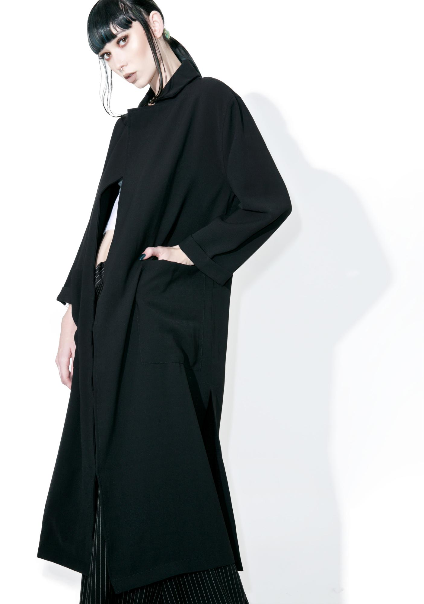 Glamorous Rei Draped Trench Coat