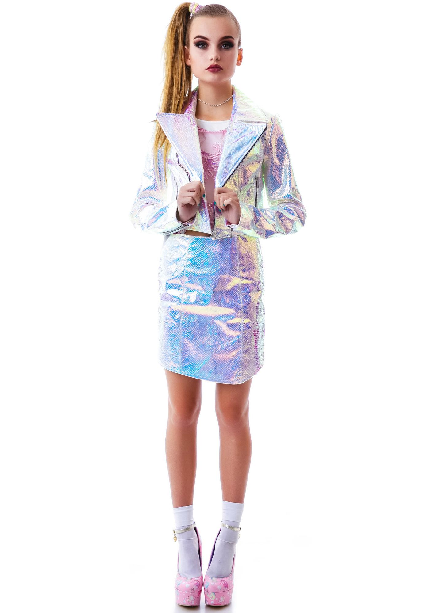 Bitching and Junkfood Gotham Holographic Jacket