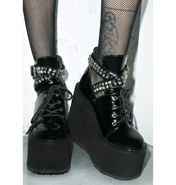 Demonia Swing Studded Platform Boots