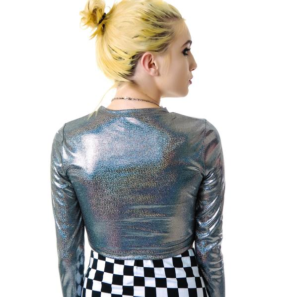 Romy Holographic Crop Top