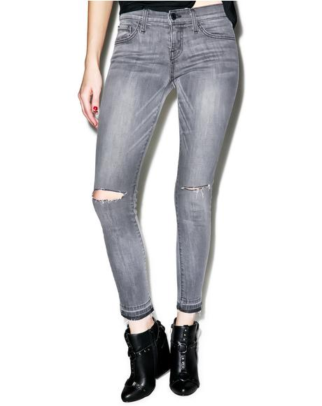 Misty Raw Edge Skinny Jeans