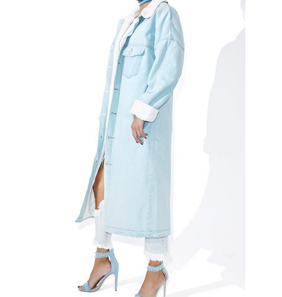 Real Bluez Denim Trench Coat