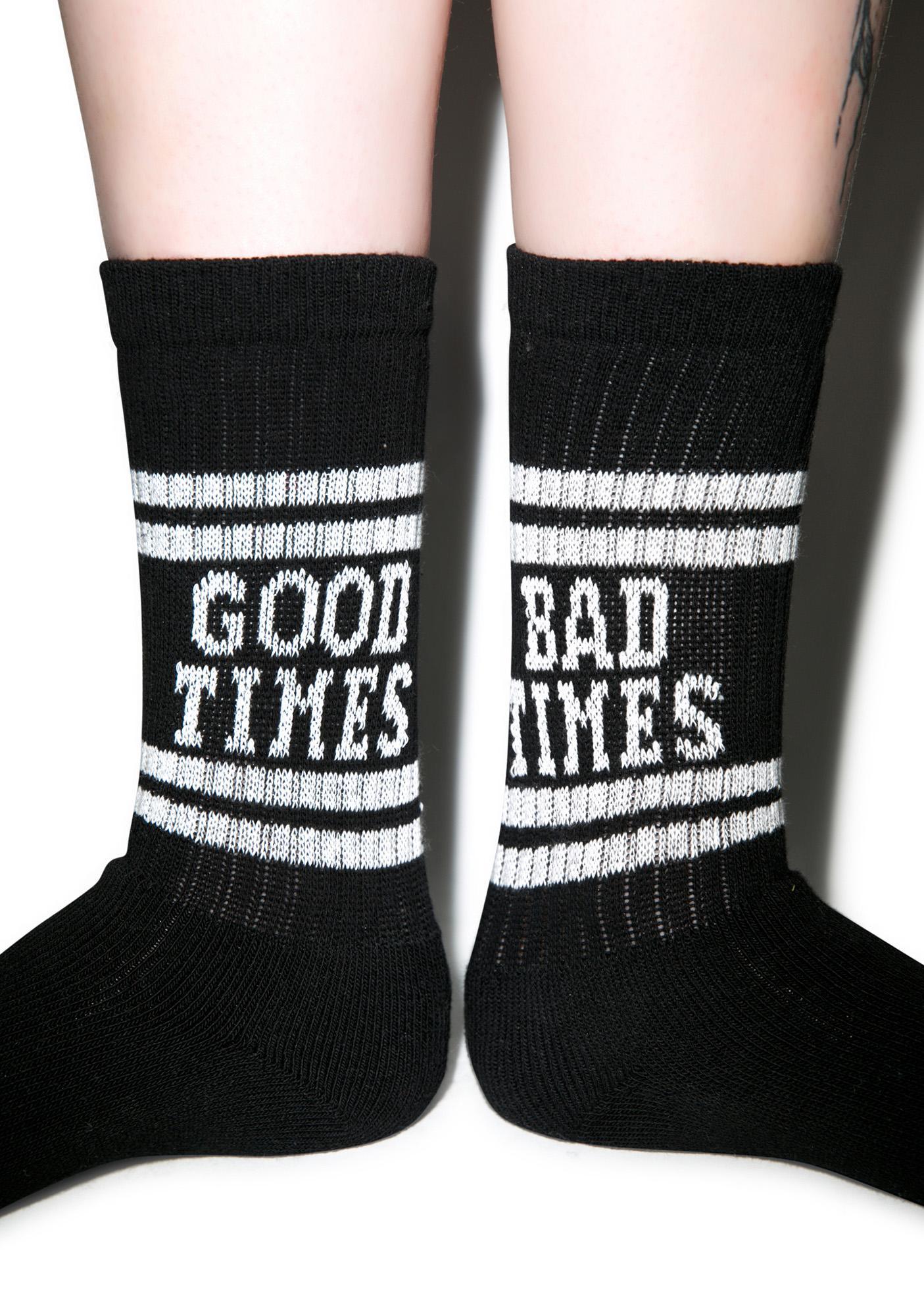 Lazy Oaf Good Times Tube Socks
