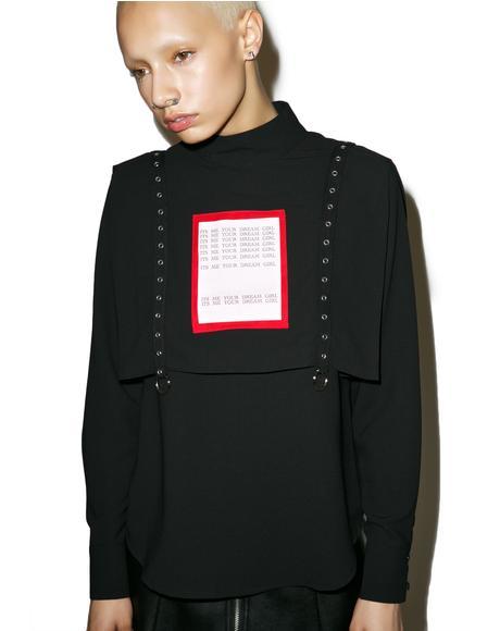 Dream Girl Eyelet Tape Shirt